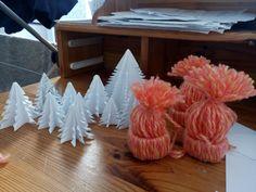 Papierowe mini choineczki