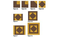 "Have Fun with Patchwork When You Sew These 15"" Quilt Blocks: Make the Center of the Nine Patch with Logs Quilt Block"