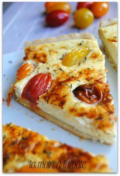Quiche au fromage frais et aux tomates cerises