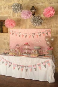 Pink baby shower sweet