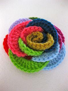 crochet circles rose