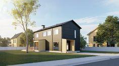Honka Markki on myös uusi kaupunkiympäristöön sopiva omakotitalomallisto. Kuvassa 2-kerroksinen malli.