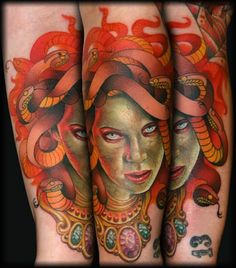 coolTop Geometric Tattoo - 35 Hauntingly Beautiful Medusa Tattoos Check more at http://tattooviral.com/tattoo-designs/geometric-designs/geometric-tattoo-35-hauntingly-beautiful-medusa-tattoos/