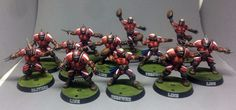 Games Workshop Reikland Reavers Team Blood Bowl Human Pro Painted