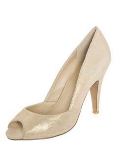 77e91ec6999dcc Peep toes - gold. Bridesmaid ShoesBridesmaidsPeep Toe  HeelsOrPeepsStockingsTightsPeep Toe PumpsTurntable