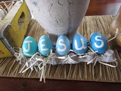 JESUS Easter eggs