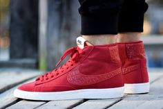 f0b7871c42b9 JUST LIFE STYLE™®  FOOTWEAR  Nike Blazer Mid Premium Vintage  Gym Red