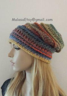 Broadway HAT Beanie Slouchy Handmade Bohemian Hat by Malasa, $39.00