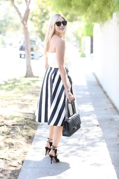 { Chicwish Strapless Top c/o   Chicwish Skirt c/o   Luisaviaroma Aquazurra Heels c/o   Barton Perreira Sunglasses   Chanel Bag }…