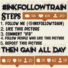 GainGainGain Follow me and who likes this post and follow directions on the pic  #ifb #instafollow #instafriends #instafollowback #inkfollowtrain #instalike #instatrain #follower #follow #instafollow #like4follower #followerz #followforfollowback #followforfollowers by 9gotti