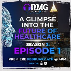 RMG Talks is back and ready to share a new season with its listeners. Season 2 is full of top-tier guest speakers in the healthcare space, 2021 industry insights, advice on how to grow your practice, and so much more. On this season premiere of RMG Talks, we share with you a glimpse into the future of healthcare, including things like digital health, telemedicine, and even technologies that are being developed to predict the course of a disease outbreak, take a Listen.  LINK IN BIO. Season Premiere, Guest Speakers, Regional, Season 2, Insight, Health Care, Advice, Medical, Technology