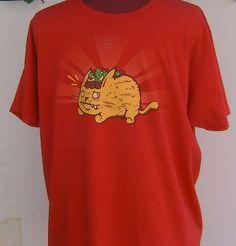e0e6d635 Taco Cat T Shirt Red Size XL Cotton T American Apparel #AmericanApparel  #GraphicTee #