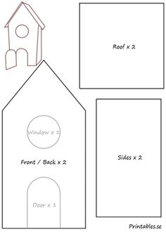 gingerbread house template Template for gingerbread house 5 Cardboard Gingerbread House, Halloween Gingerbread House, Gingerbread House Patterns, Gingerbread Village, Gingerbread House Template Printable, Christmas Templates, Templates Printable Free, Free Printables, Christmas Crafts For Kids