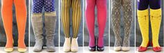 6 fun ways to wear tights. i could def do some variation of all of these :)