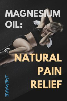 Do you wake up stiff and sore every day, the kind of achiness that knocks you out for days? Experience restless legs at night after working out? Chances are you need a good dose of magnesium. I have a natural pain relief solution for you called magnesium oil to relieve muscle tension. jaiemare.com Magnesium oil   diymagnesium oil diy   epsom salt magnesium oil   magnesium oil from epsom salt   natural pain relief sore muscles #magnesiumoil #jaiemare #magnesiumoilspray #painrelief #magnesium Chronic Migraines, Chronic Pain, Chronic Illness, Fibromyalgia, Magnesium Oil Spray, Message Therapy, Acupuncture Benefits, Cupping Therapy, Natural Pain Relief