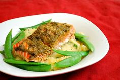 Pesto Baked Salmon by ItsJoelen, via Flickr