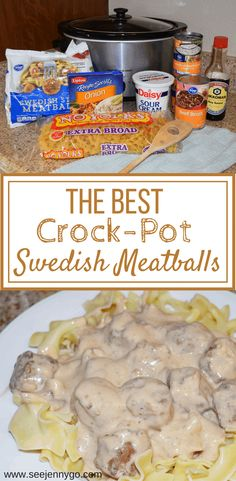 Slow-Cooker Swedish Meatballs Crockpot Swedish meatballs, easy to make, family friendly dinner ideas, kid meals, budget friendly recipes. The post Slow-Cooker Swedish Meatballs & Dinner ideas appeared first on Easy dinner recipes . Easy Baking Recipes, Cooking Recipes, Kid Friendly Crockpot Recipes, Healthy Recipes, Budget Recipes, Crockpot Kids Meals, Beef Recipes, Chicken Recipes, Crockpot Meat