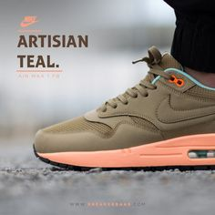 "#nike #airmaxone #niketeal #sneakerbaas #baasbovenbaas #yeezy  Nike Air Max 1 FB ""Artisian Teal"" - priced at € 134,99  For more info about your order please send an e-mail to webshop #sneakerbaas.com!"