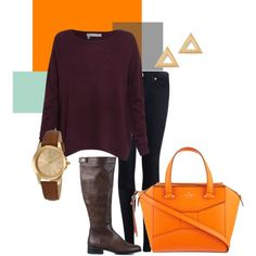 Fall Color Series: Aubergine and Tangerine. Two bold colors that work so great together! Bold Colors, Diaries, Fall, Style, Fashion, Woman, Autumn, Moda, Bright Color Schemes