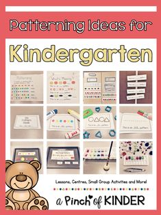 Teaching Patterning in FDK - Part 2 - A Pinch of Kinder Patterning Kindergarten, Kindergarten Readiness, Teaching Patterns, Math Patterns, Small Group Activities, Preschool Activities, Maths Area, 1st Grade Math, Grade 1
