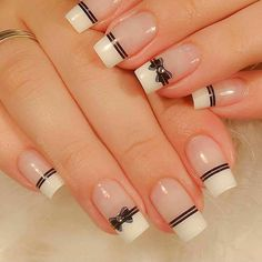 No one will reject acrylic nails, because their elegant and perfect nail shape can make fingers look slender and very easy to show personal charm. And if you like simple and stylish design, check out these 48 simple acrylic nails, you will love it. Simple Acrylic Nails, Best Acrylic Nails, Easy Nail Art, Simple Nails, Nail Art Designs Videos, Simple Nail Art Designs, Acrylic Nail Designs, Elegant Nail Designs, Chic Nails