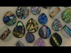 Fusing Jewelry Dichroic Glass fdg9  drilled cabs DichroicGlassMan.com