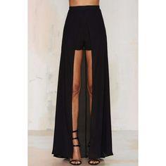 Analisa Layered Shorts ($68) ❤ liked on Polyvore featuring shorts, skirts, high rise shorts, high waisted shorts, see through shorts, zipper shorts and sheer shorts