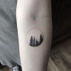 (notitle) - Tattoos - My list of the most creative tattoo models Pine Tattoo, 1 Tattoo, Dot Work Tattoo, Piercing Tattoo, Piercings, Nature Tattoos, Body Art Tattoos, Small Tattoos, Kiefer Tattoo