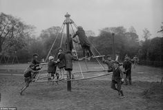 Played on this too. Photographs show how children had fun before the inspectors took over