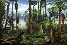 Carboniferous forest flora