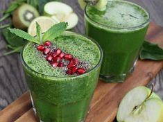 Zeleninové smoothie s jablkem Pesto, Smoothies, Watermelon, Fruit, Food, Smoothie, Essen, Meals, Yemek