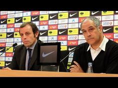 FOOTBALL -  FC BARCELONA - Press conference by Sandro Rosell and Andoni Zubizarreta, live - http://lefootball.fr/fc-barcelona-press-conference-by-sandro-rosell-and-andoni-zubizarreta-live/