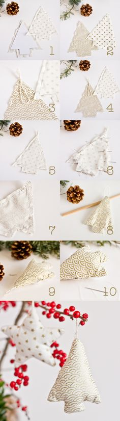 DIY decoration Sapin tissu, paperboat.fr