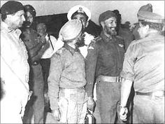 How we won the 1971 war: From left: Niazi, Brigadiers Sant Singh and Shubeg Singh and Jacob just before the signing of the instrument of surrender, Dacca, December 16, 1971