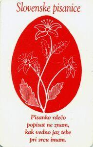 Telefon Kartı: Slovenske Pisanice (Impulz, Slovenya) (50 Units) Col:0225-50 The Unit, Cover, Slipcovers