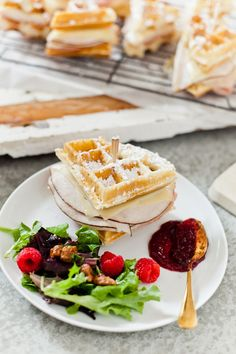 Ham and Turkey Monte Cristo Waffle Skewers | Fresh Mommy Blog    Monte Cristo Waffle Skewers make for a great breakfast, brunch or breakfast for dinner! These make a meal that our entire family eats up and also great for Valentines Day or any other holiday!