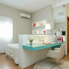 Amazing Teen Girl Bedroom Decor Ideas - Home and Garden Decoration Bedroom Decor For Teen Girls, Teen Girl Bedrooms, Childrens Bedroom, Modern Teen Bedrooms, Master Bedrooms, Girl Rooms, Bedroom Modern, Awesome Bedrooms, Beautiful Bedrooms