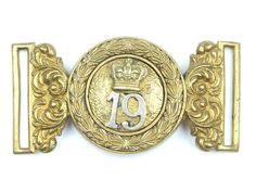 British  19th (The 1st Yorkshire North Riding) Regiment of Foot, Officer s  Belt Clasp, c.1870 008ea3b886c