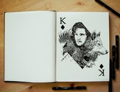 Game of Thrones - Jon Snow - Kit Harington. Metaphysical and Surreal Doodle Drawings. See more art and information about Joseph Catimbang, Press the Image.