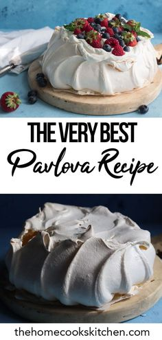 The best Pavlova recipe ever - Christmas Desserts Australian Pavlova Recipe, Australian Desserts, Australian Food, Australian Recipes, Fancy Desserts, Just Desserts, Delicious Desserts, Pavlova Cake, Mini Pavlova