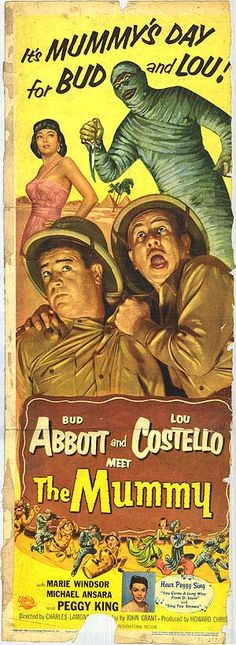 """ABBOTT AND COSTELLO MEET THE MUMMY"". (1955)"
