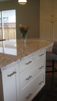 cabinets kitchen craft lexington maple seashell granite white springs cabinet hardware restoration hdwe bm revere pewter backsplash bellavita