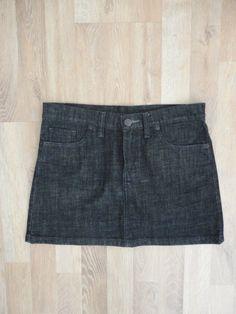 Pollera de jean azul oscuro #rapsodia #ModaSustentable. Compra esta prenda en www.saveweb.com.ar !