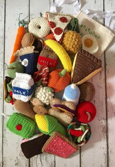 Play Food Crochet Food 32 piece Crochet Food Play Set Play