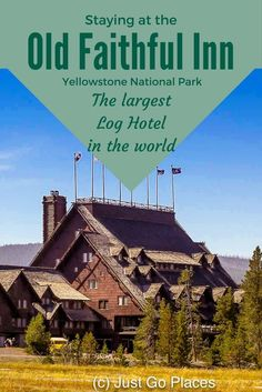 What's it like to stay at Old Faithful Inn in Yellowstone National Park? This post offers tips for staying at the largest log hotel in the world. Vacation Places, Vacation Destinations, Vacation Spots, Vacation Ideas, Vacations, Yellowstone Vacation, Yellowstone National Park, Yellowstone Tours, West Yellowstone Montana