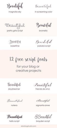 12 free beautiful script fonts