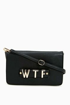 WTF Clutch from Nasty Gal on shop.CatalogSpree.com, your personal digital mall.