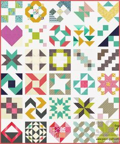30 Days of Sewing Quilt Blocks - A Sampler Quilt Tutorial