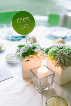 Retro & lime green reception wedding flowers,  wedding decor, wedding flower centerpiece, wedding flower arrangement, add pic source on comment and we will update it. www.myfloweraffair.com can create this beautiful wedding flower look.