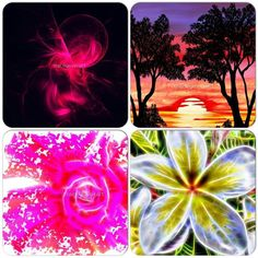 Tracey Lee Art Designs. All available as prints and on merchandise. See my website www.traceyleeartdesigns.com for online stores with Society6, Redbubble and FIne Art America. #art #fractal #rose #sunset #flowers